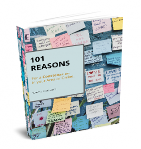 "ZIESOO E-Boek ""101 Reasons for a Constellation""."
